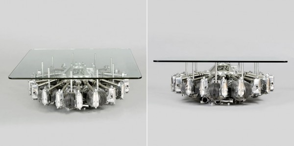 The Lycoming R680 9 Cylinder Radial Engine Table is a perfect gift for a motorhead.