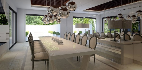 A formal dining room, coupled with an open gourmet kitchen, will have friends clamoring for invitations.