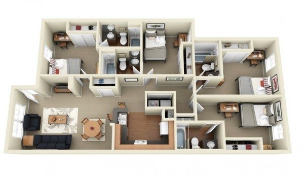 four-bedroom-apartment