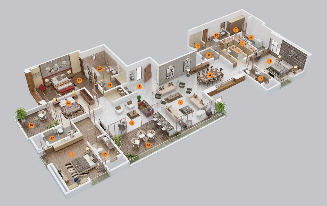 House Floor Plans 5 Bedroom 4 bedroom apartment/house plans