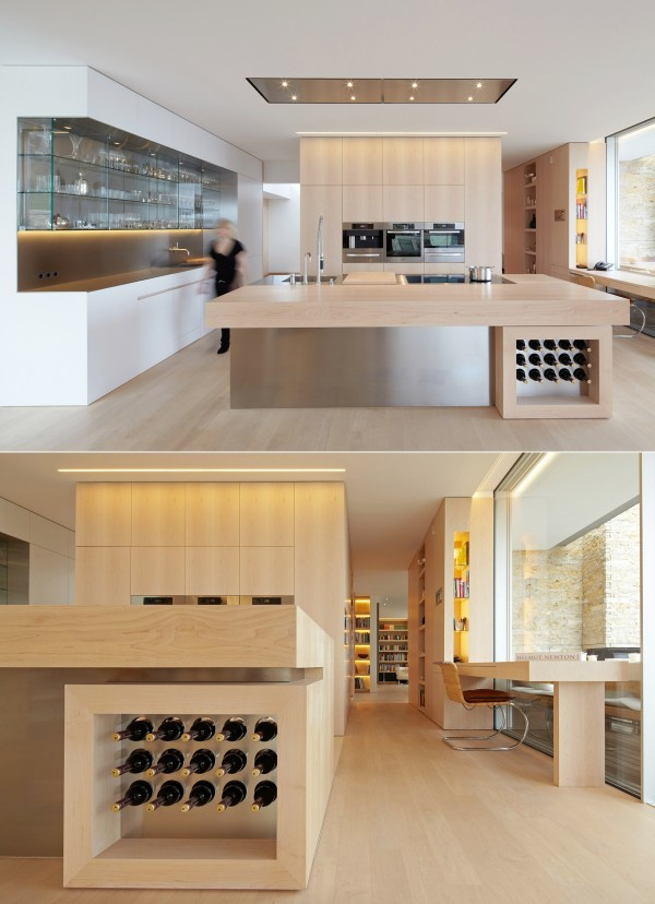 No bachelor kitchen is complete with a place to store and display wine. This out-of-the-way option keeps it accessible without being ostentatious.