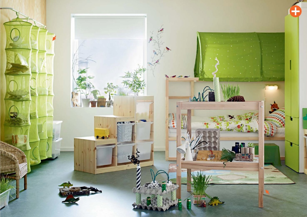 Green kids room ikea interior design ideas - Kids room decoration ...