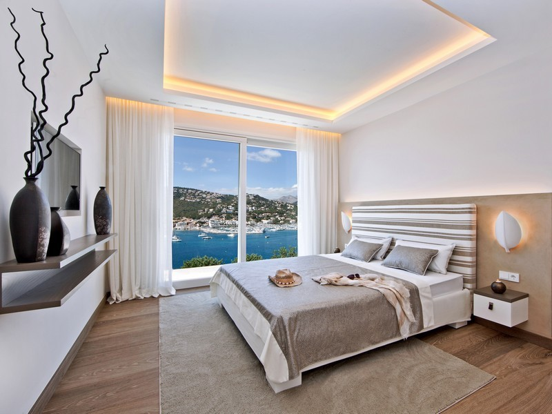 Beautiful spanish villa with views of port d 39 andratx for Contemporary guest bedroom ideas