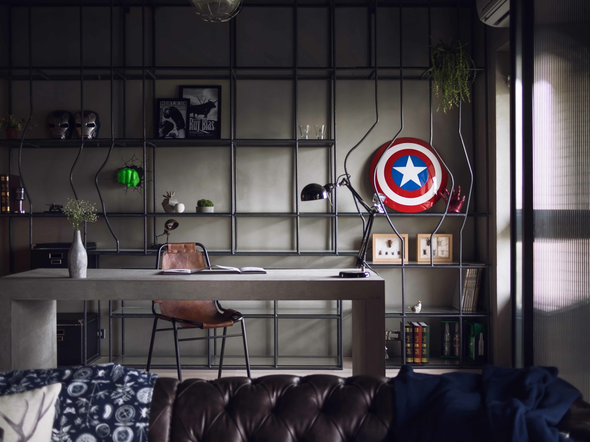 Marvel Themed Room Cool Fabulous Marvel Heroes Themed House With Cement Finish And Inspiration Design