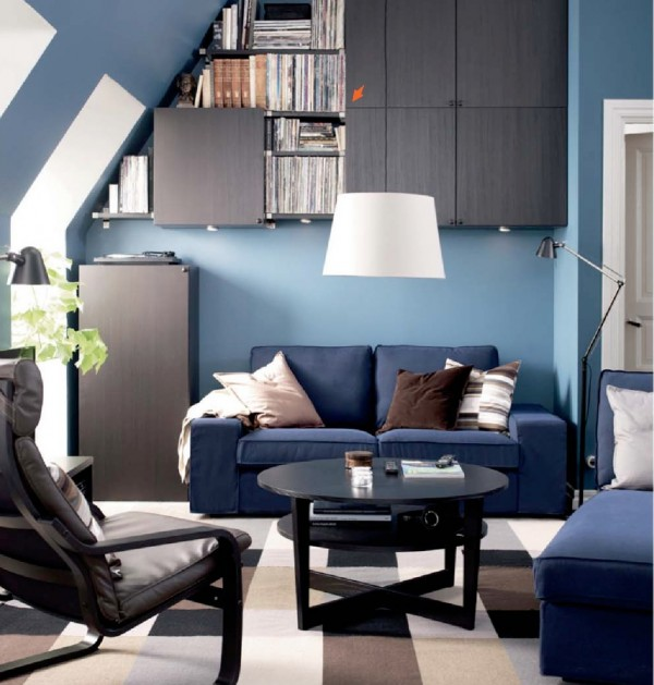 ikea blue sofa set