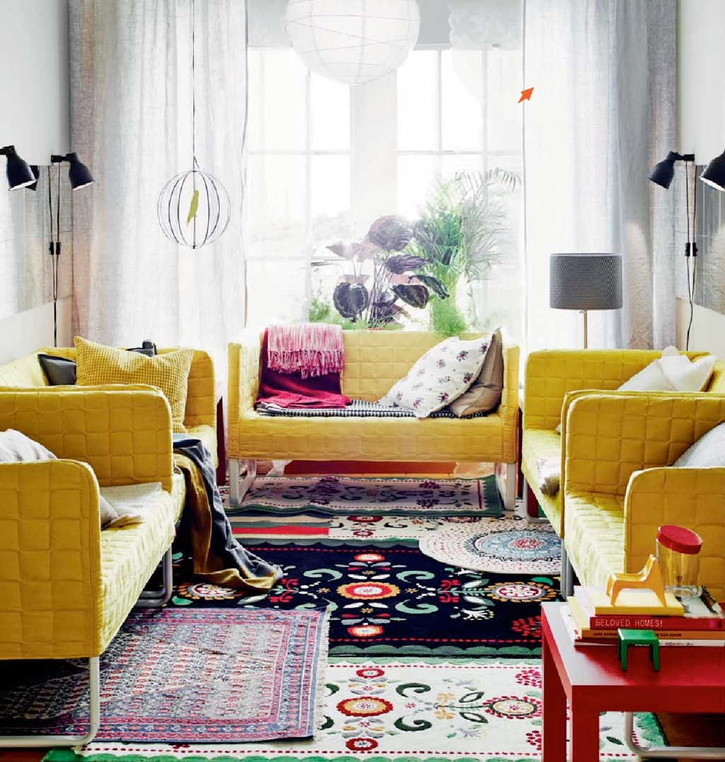 Ikea 2015 catalog world exclusive for Colorful living room furniture