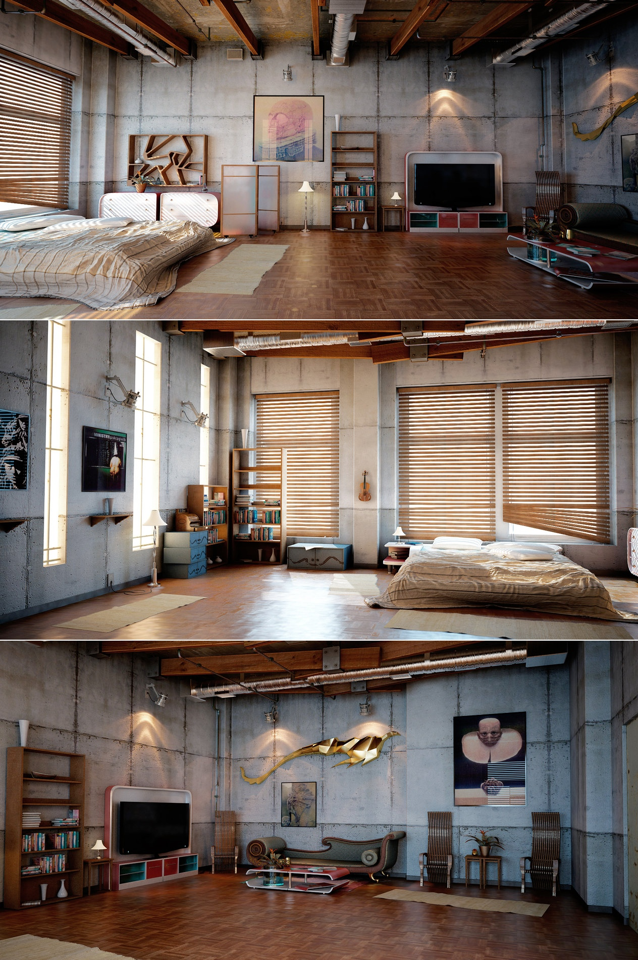 loft design inspiration. Black Bedroom Furniture Sets. Home Design Ideas