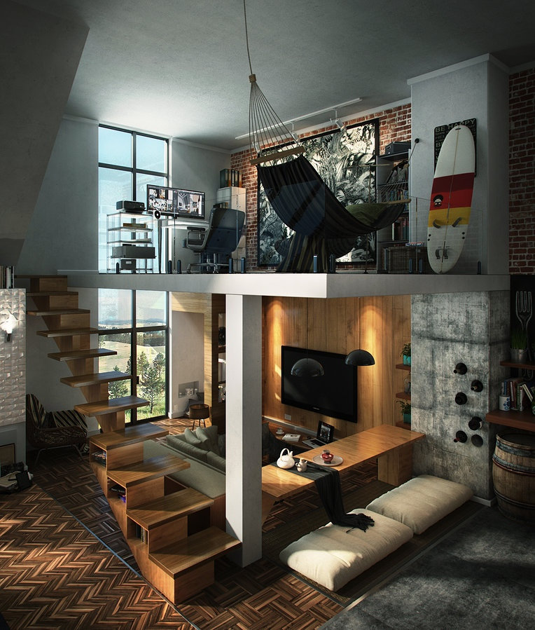Cool Loft Apartment loft design inspiration