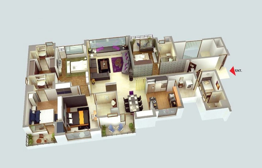 4 bedroom apartment house plans for 4 bedroom luxury apartments