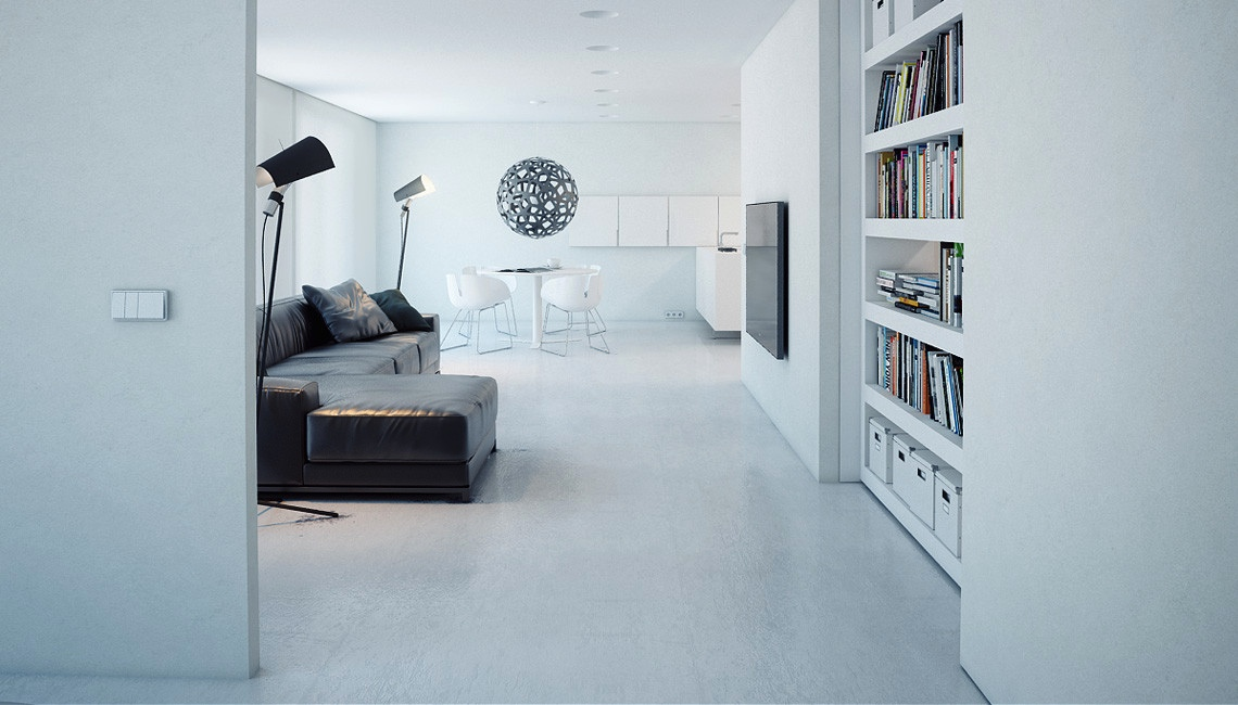 Minimalist Studio a super minimalist modern apartment in white