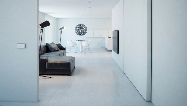 minimalist white decor