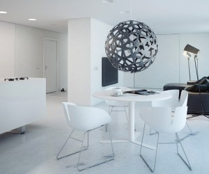 minimalist white dining ideas