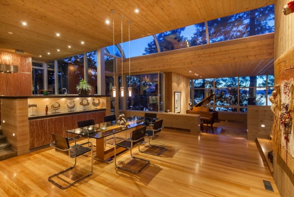 modern dining with view