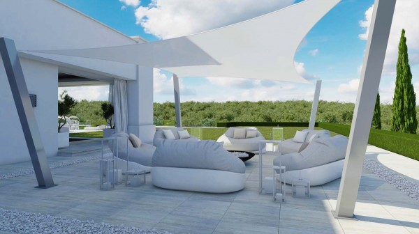 The luxurious outdoor spaces are certainly an attractive feature, since this region of Spain is well known for its pleasantly warm climate that allows for outdoor lounging year round.