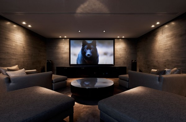 Of course, it is easy to keep the living area free of media when you have your own personal screening room where you can retreat.