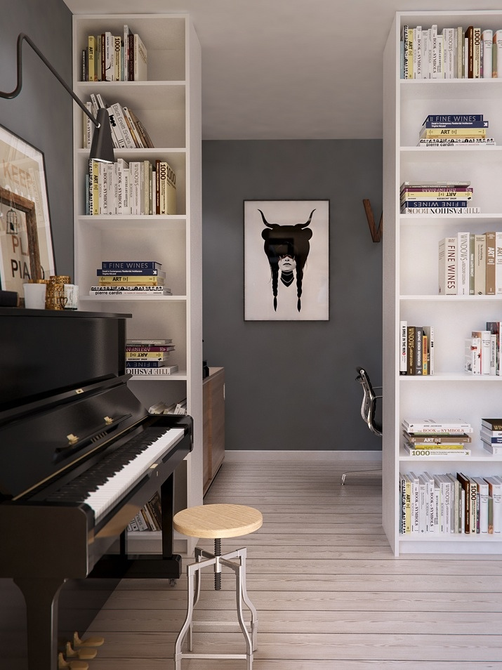 Four apartments from st petersburg 39 s int2 architecture for Piano room decor
