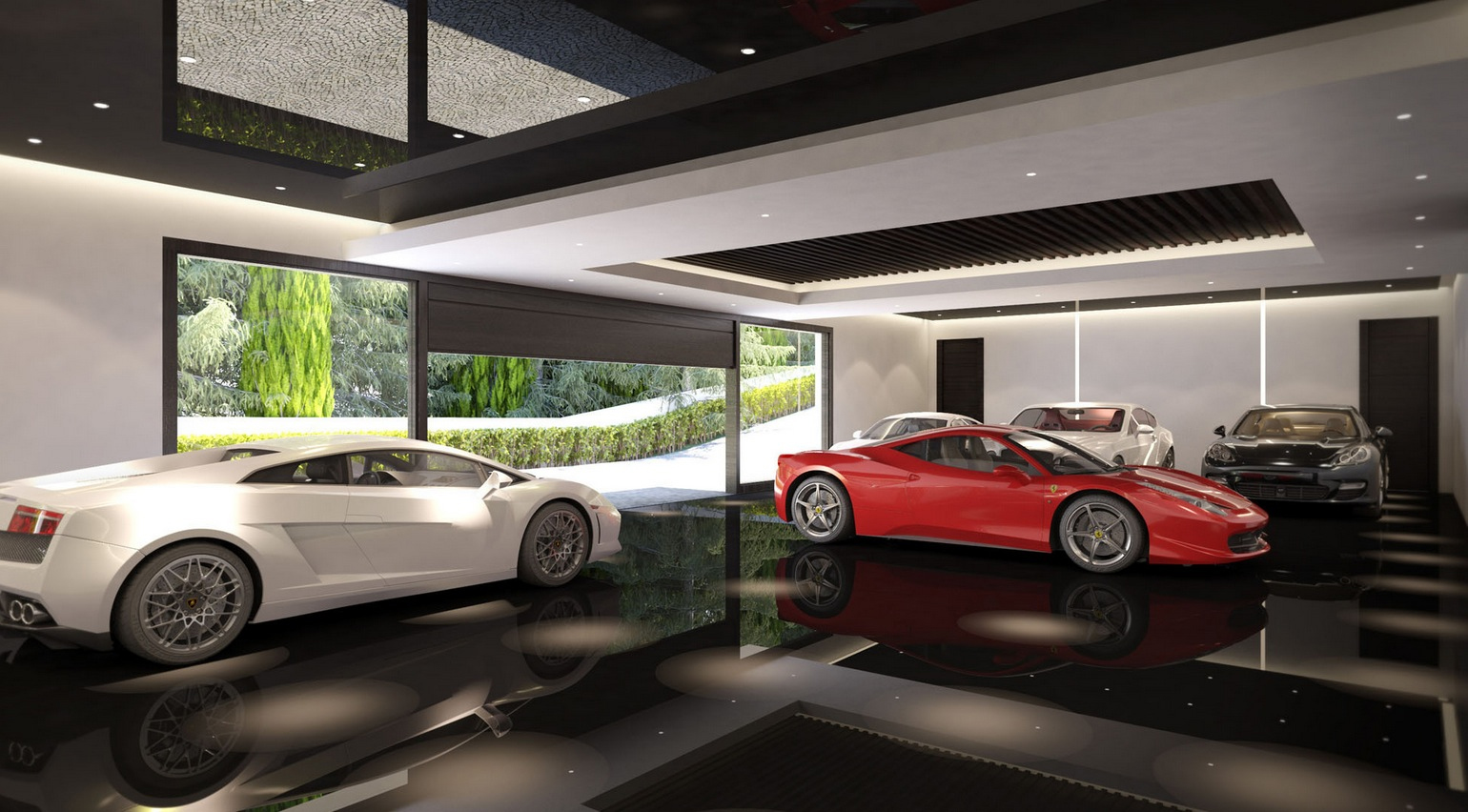 Private Park Garage : Luxurious bedroom spanish home with indoor outdoor pools