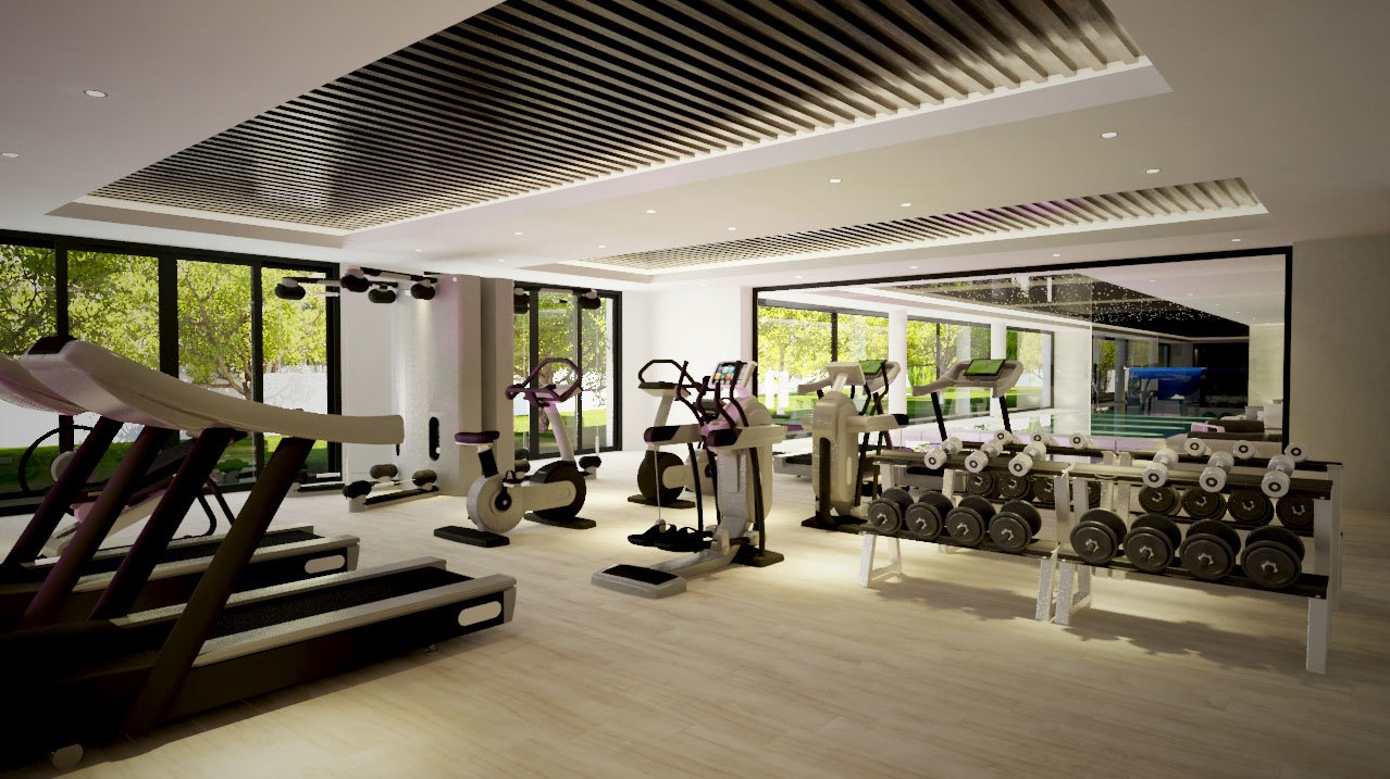 Private gym interior design ideas for Home gym interior design