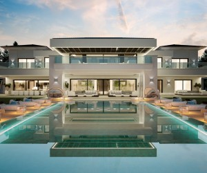 Home Design Ideas modern house design with concrete structures by mck architects home decorating ideas interior design Luxurious 9 Bedroom Spanish Home With Indoor Outdoor Pools