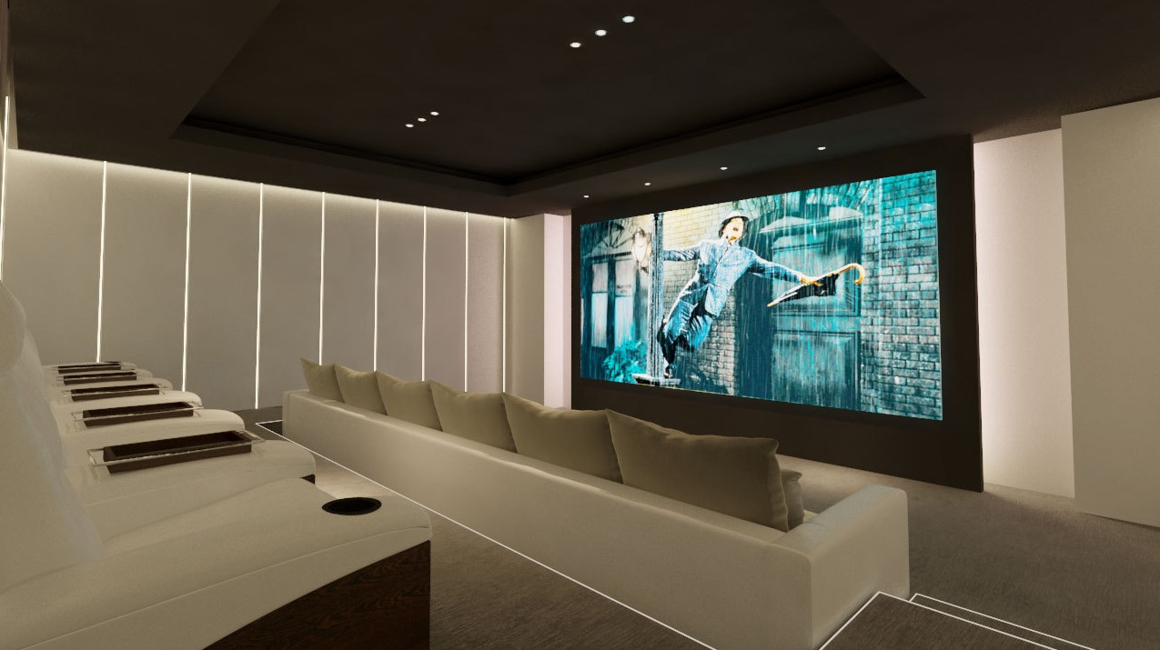 Screening room interior design ideas Indoor outdoor interior design