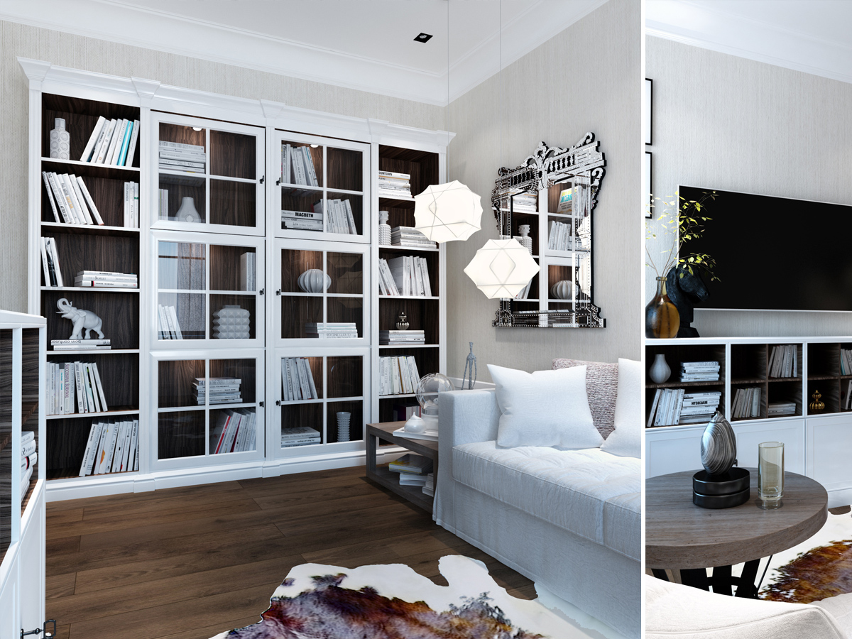 shelving and study interior design ideas
