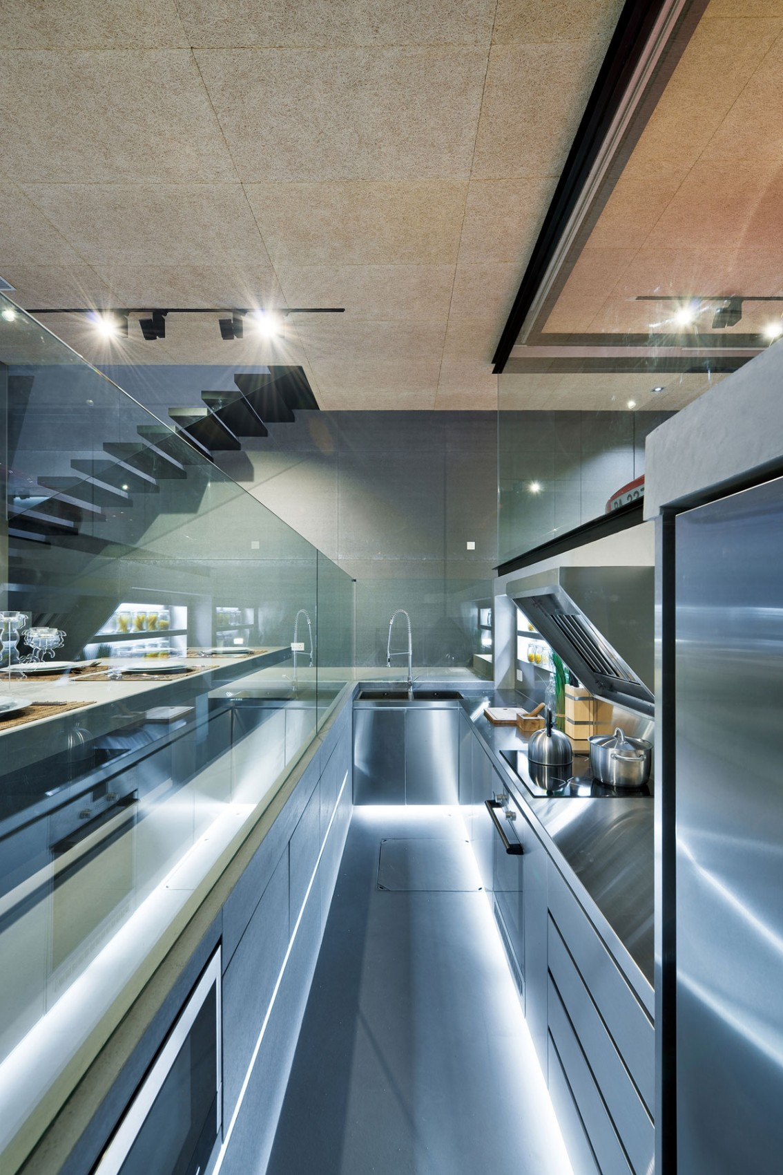 Small Kitchen Organization - Modern remodel in hong kong with a ferrari as focus