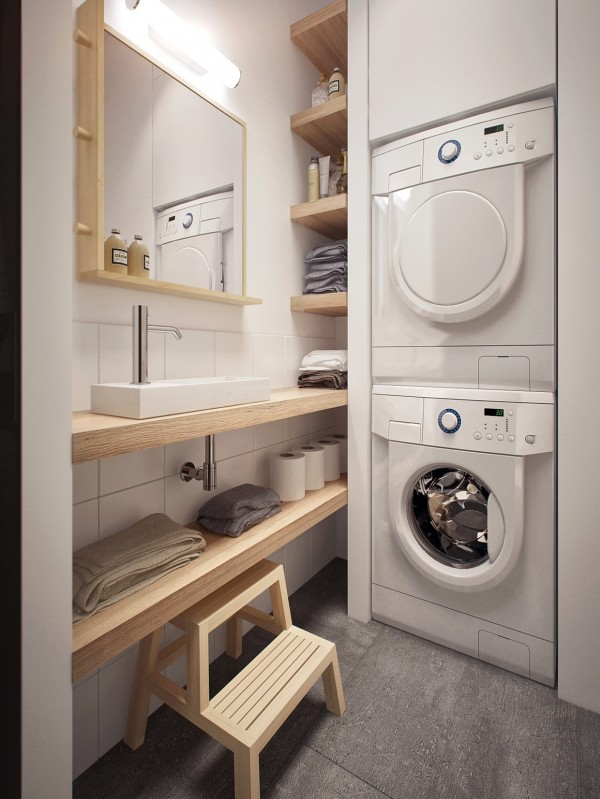 space efficient laundry room design