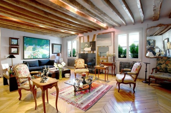 spacious french living room