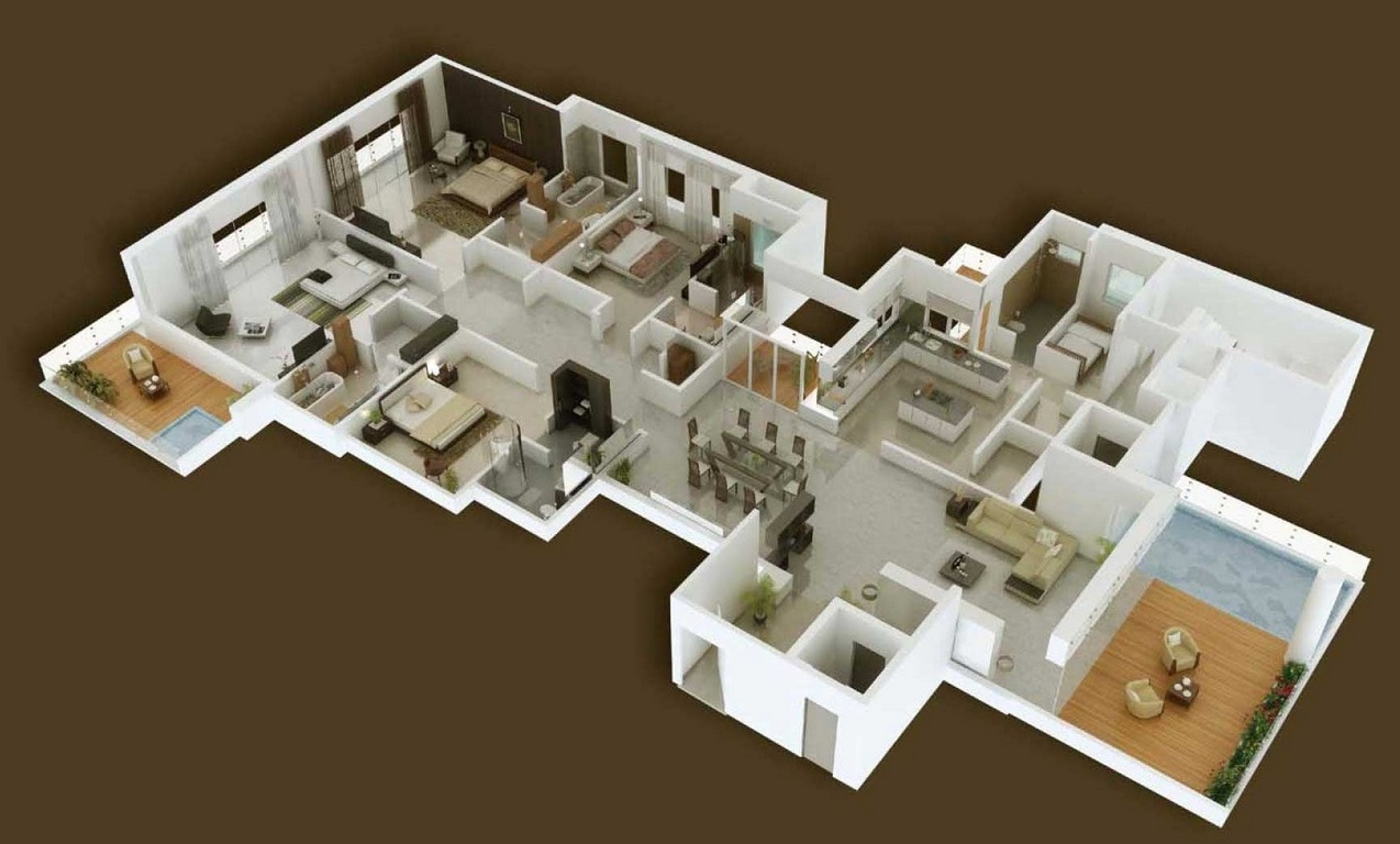 Apartment Room Plan 4 bedroom apartment/house plans