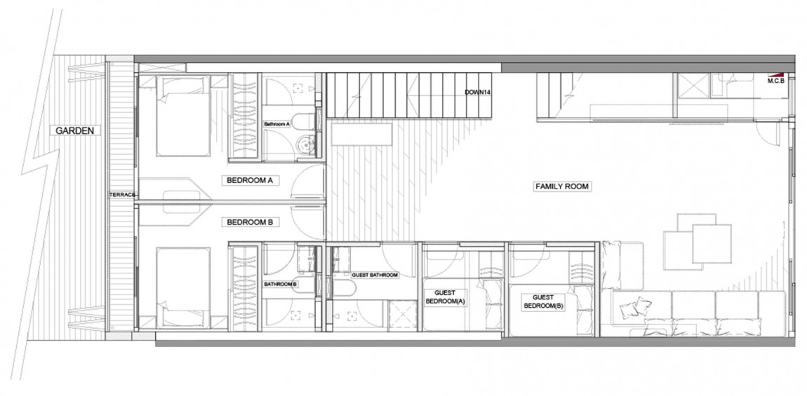 Split Level Floorplans - Modern remodel in hong kong with a ferrari as focus