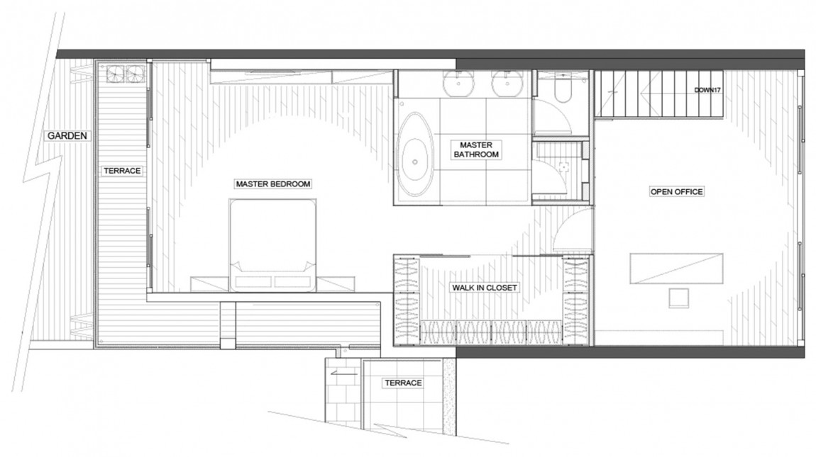 Upper Level House Plan - Modern remodel in hong kong with a ferrari as focus