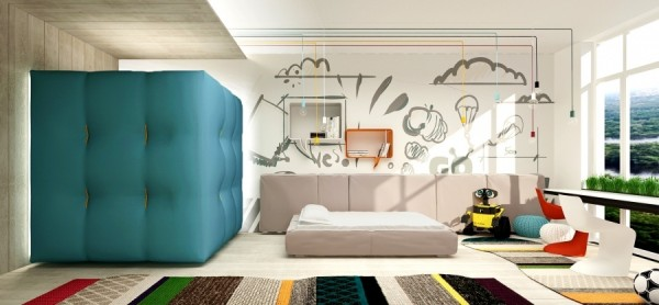 Wall decals add an element of fun that can easily be swapped out when the child outgrows his current tastes.