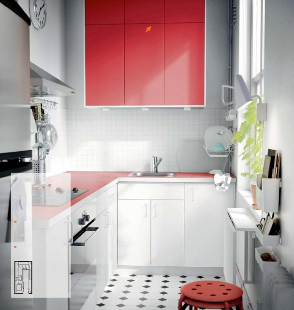 white red kitchen ikea