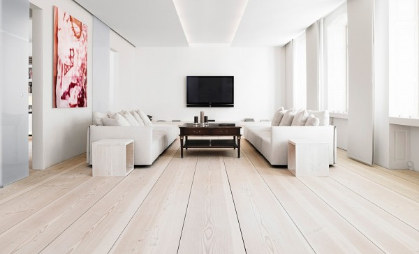 When everything is white, rooms can seem so much more spacious and open. Now they just have to be sure to keep things clean!