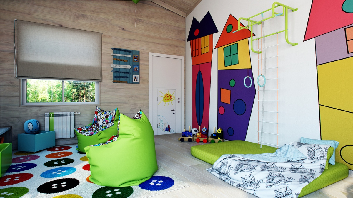 awesome cartoon kids room Interior Design Ideas