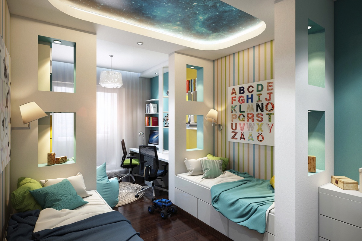 Bright and colorful kids room designs with whimsical artistic features - Room designs ...