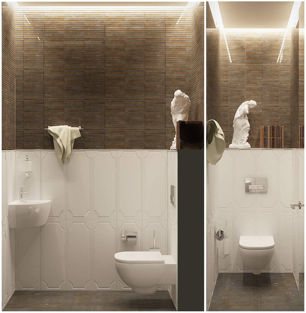 Beautiful Bath Design - Contemporary apartment design with classical features floor plans included