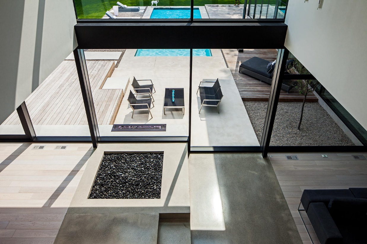 Beautiful Living Room Design - Ultra sleek private home with incredible architecture