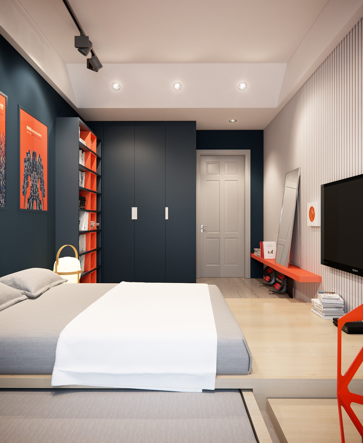 Boys bedroom design interior design ideas for Modern house interior design bedroom