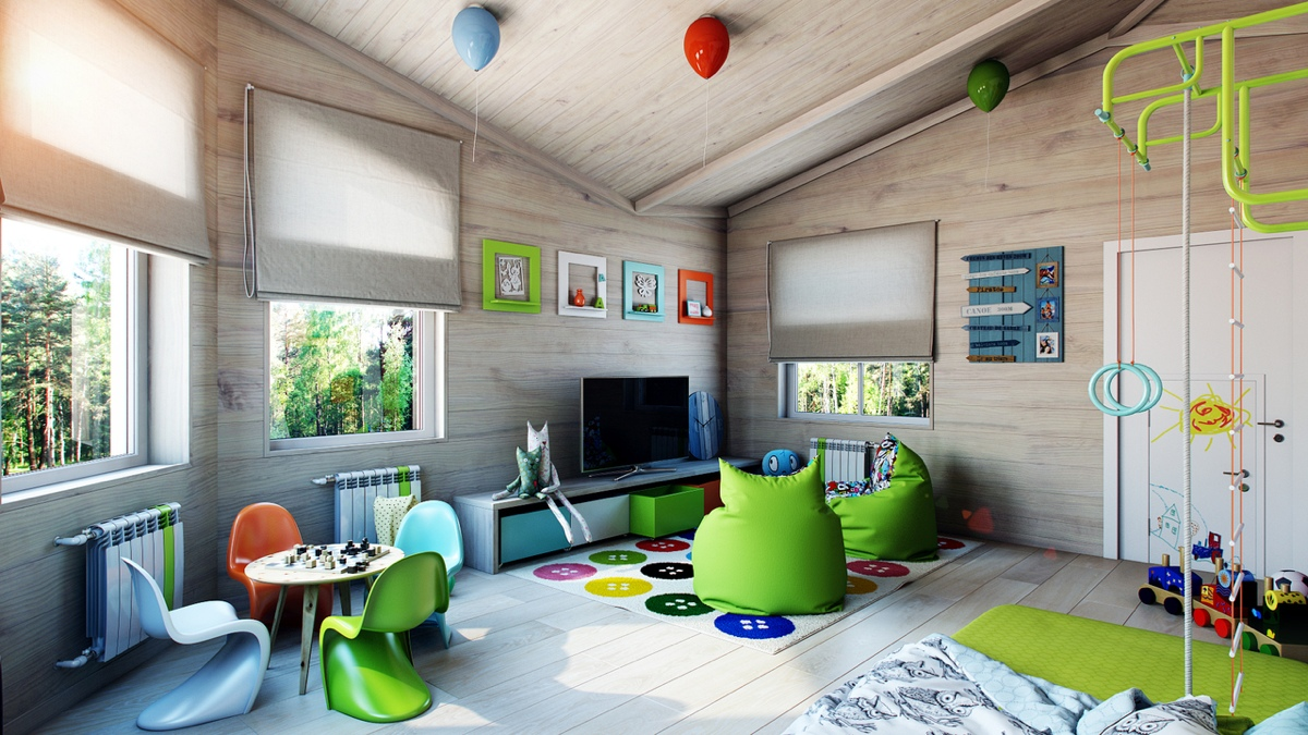 Bright green kids room interior design ideas for Bright green bedroom ideas