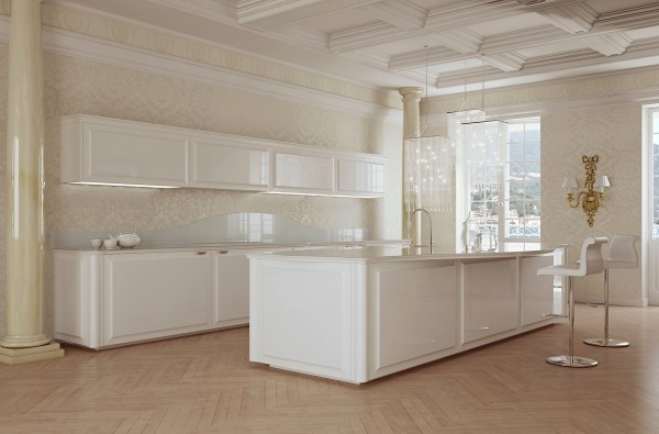 This all-white kitchen would be a dream come true for clean freaks.