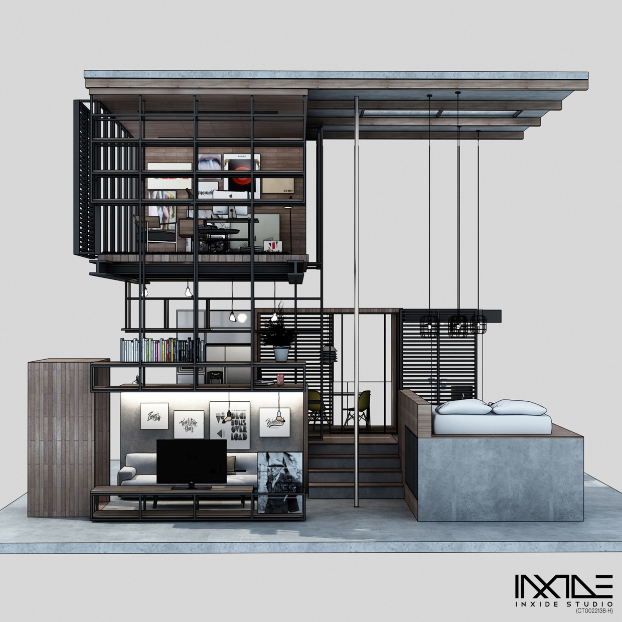 Compact modern house made from affordable materials for Home decorating materials