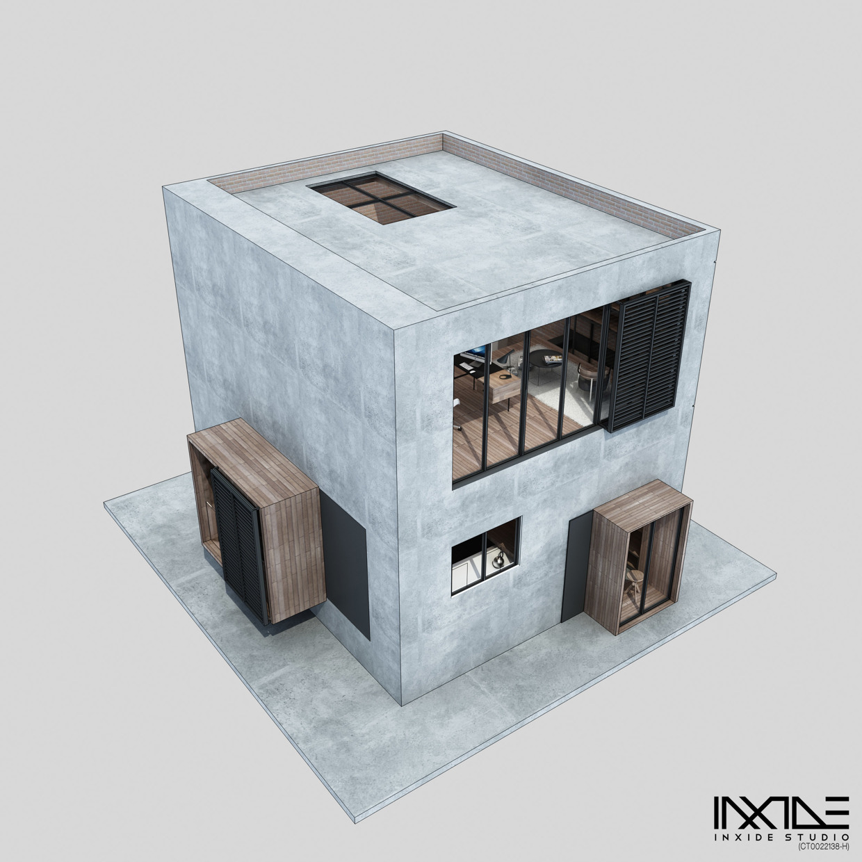 Compact House Made from Affordable Materials