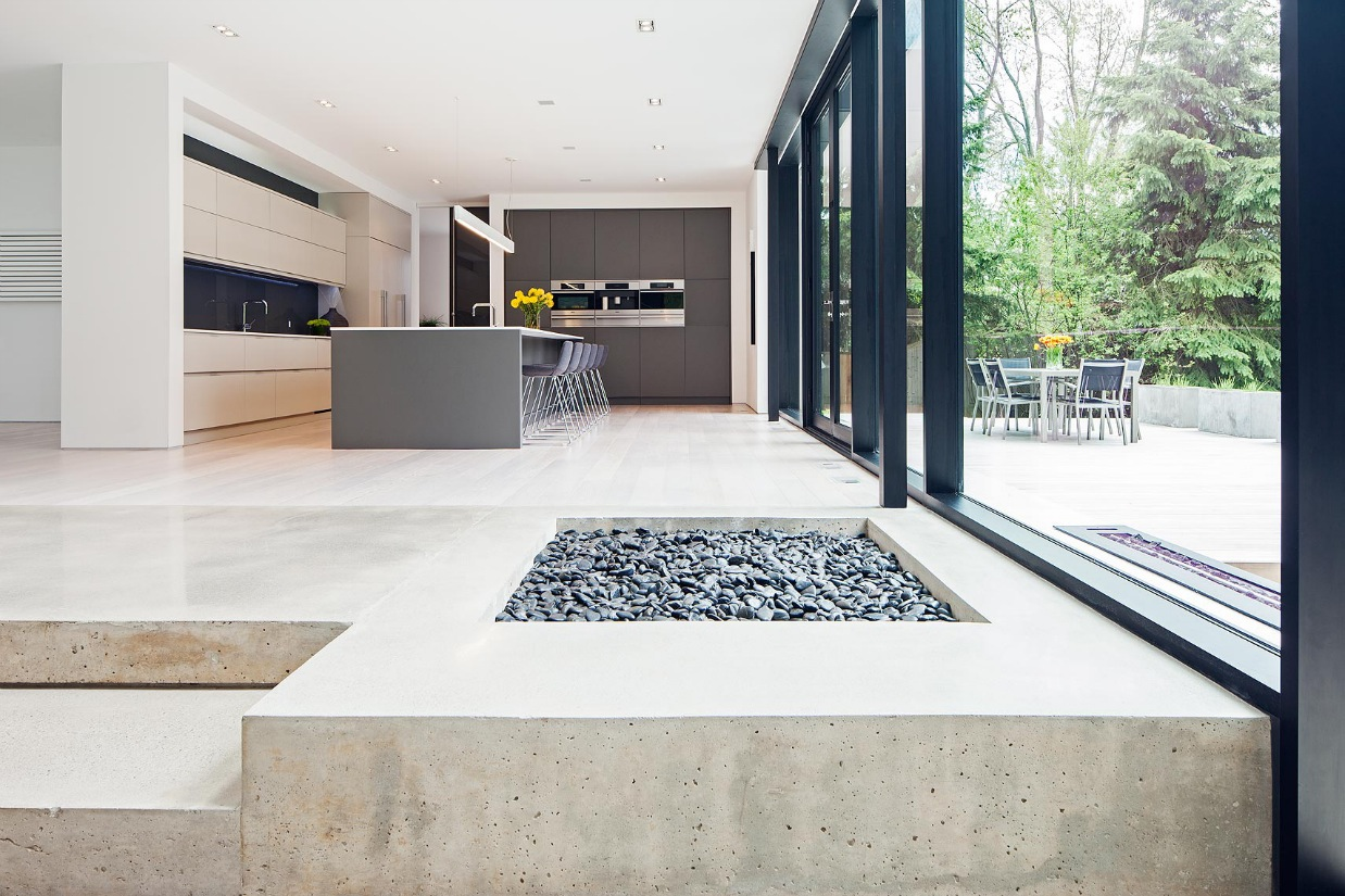 Concrete Floor Design - Ultra sleek private home with incredible architecture