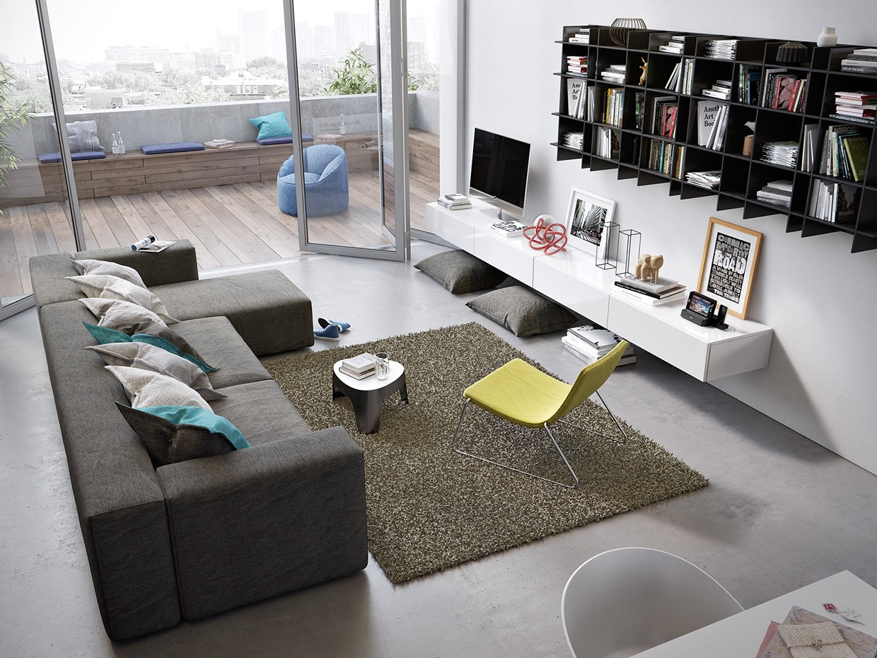 Awesomely stylish urban living rooms for Young modern living room