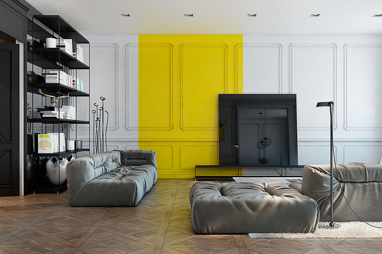 Cool molding design interior design ideas for Decoration interieur style atelier
