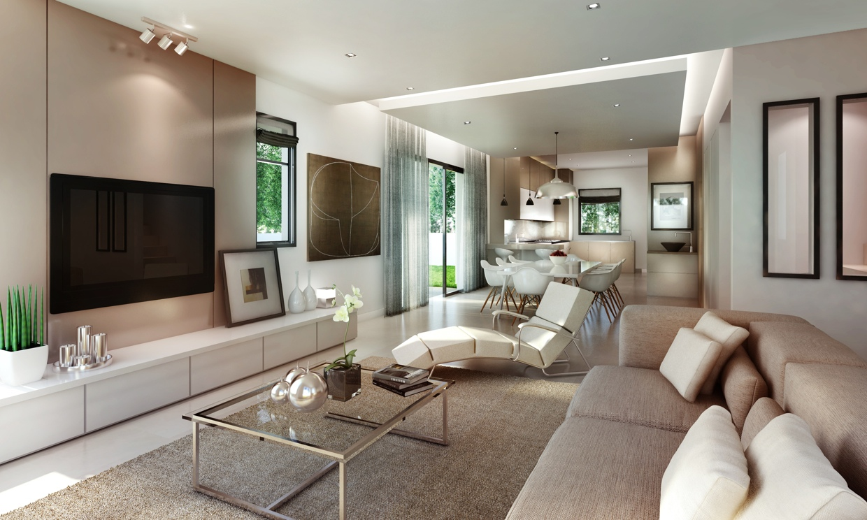 Awesomely stylish urban living rooms - Deco salon taupe beige ...