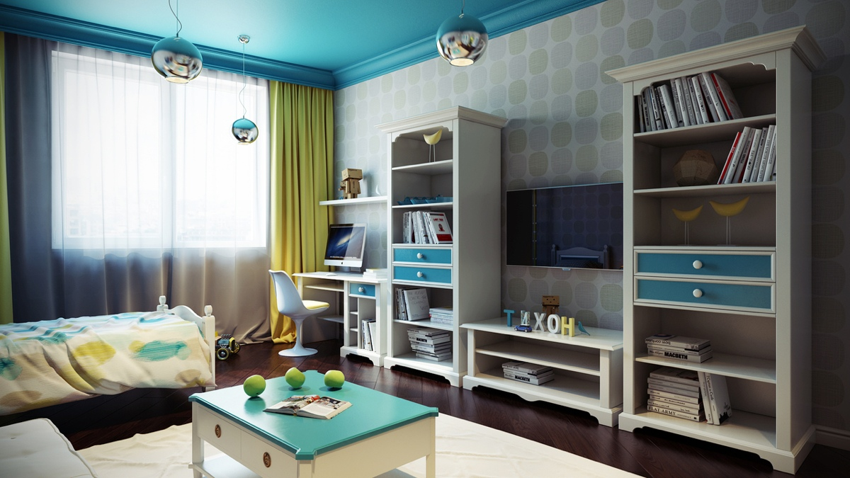 Bright And Colorful Kids Room Designs With Whimsical Artistic Features - Space kids room