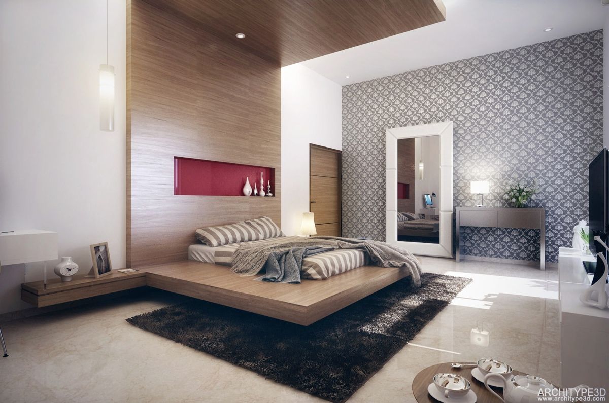 Modern bedroom design ideas for rooms of any size for Bed wall design