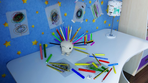 Keep colored pencils readily available with this adorable pencil holder.